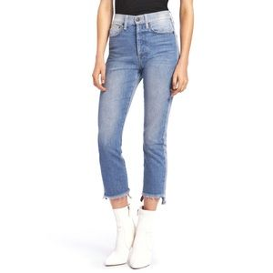 Alice and Olivia Amazing Two Tone Cropped Jeans 26